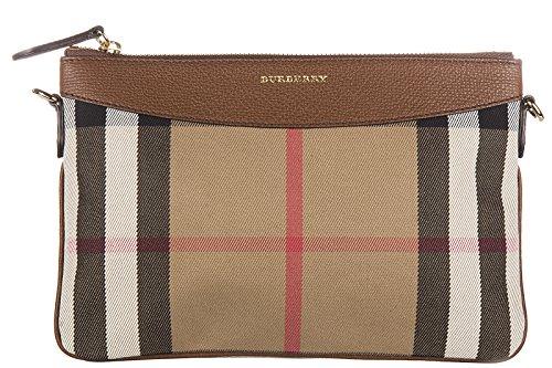 BURBERRY Pochette Handtasche Damen Tasche Clutch mit Schulterriemen peyton beige