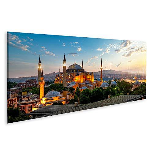 Bild Bilder auf Leinwand Sehen Sie das Stadtbild des Ayasofya Museums Istanbul Sonnenaufgang Türkei Wandbild Poster Leinwandbild GCRJ