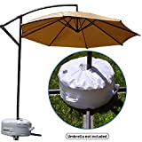 EasyGO Products Offset Umbrella Base Stand Weight - Works Also for Market Umbrella (White)