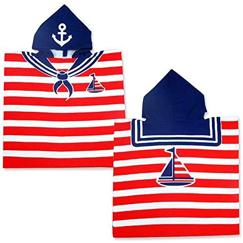 Coralup Toallas de baño con capucha para niños, diseño de dibujos animados, toalla de...
