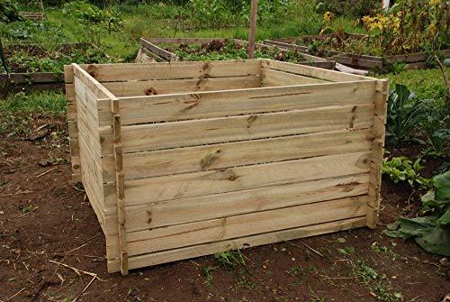 Da Giardino In Legno Compostiera rifiuti cestino rifiuti da giardino–grande 893litri