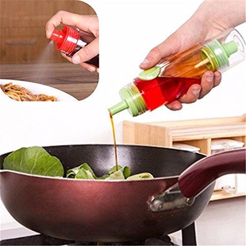 Zhouba 2 en 1 Creative ustensile de cuisine à l'huile d'olive Sauce Soja vinaigre Flacon pulvérisateur épices Distributeur – par aléatoire