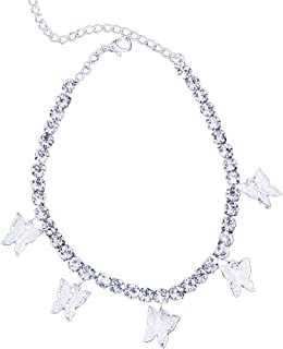 Rhinestone Butterfly Tennis Anklet Crystal Armlet, Rhinestone Bridal Wedding Jewelry, Rhinestone Body Chain Jewelry,Crysta...