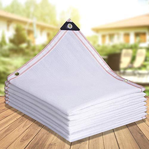 HXSM Weiß Sonnenschutznetz UV-Schutz Schattentuch Garten Schattiernetz Mit Ösen Schattennetz Für Gewächshaus Zaunblende Schattierungsgewebe