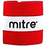 Mitre Men/'s Captain Arm Band, Red (Scarlet/White), Large