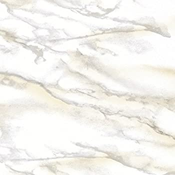 """Con-Tact Creative Covering Self-Adhesive Vinyl Drawer and Shelf Liner, 18"""" x 20', Marble White"""