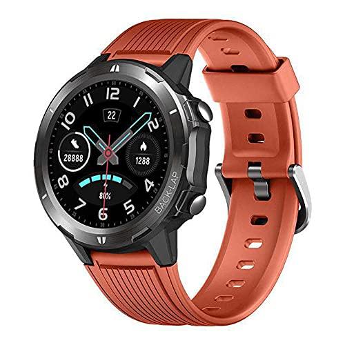 Reloj Inteligente Con Ritmo Cardíaco Presión Arterial Monitor De Sueño 5ATM Impermeable 1.3 Pulgadas Smartwatch GPS Podómetro-C