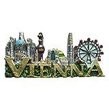 Wien Österreich 3D-Kühlschrank-Magnet Reiseaufkleber Souvenirs, Heim- und Küchendekoration Wien Österreich Kühlschrankmagnet Kollektion aus China