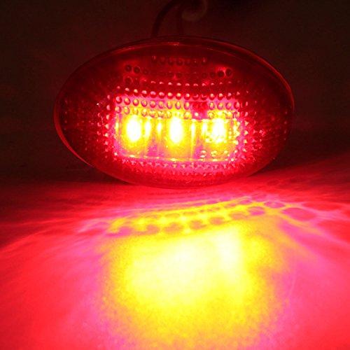 MASUNN LED fumée côté Fender Dually lit marqueur Rouge Ambre Clair