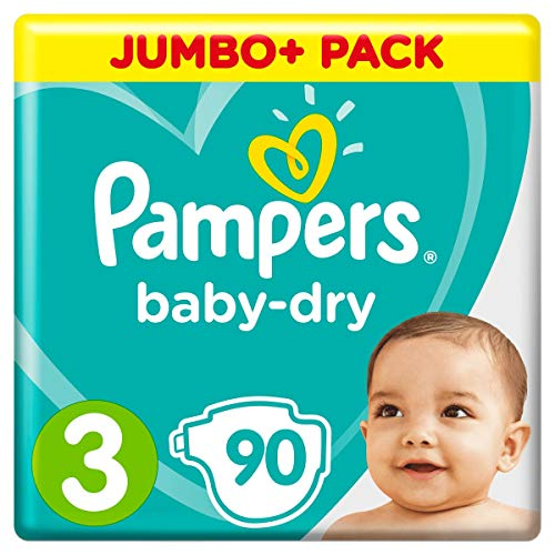 Pampers Baby-Dry, Größe3, 5-9kg, Mega Plus Pack, 90 Stück