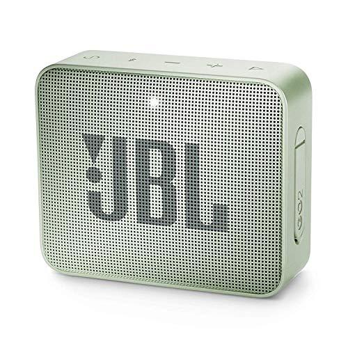JBL GO 2 - Altavoz inalámbrico portátil con Bluetooth, resistente al agua (IPX7), hasta 5 h de reproducción con sonido de alta fidelidad, menta