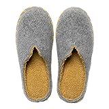 Zapatillas para Hombre para Mujer Zapatillas De Casa Cálidas De Moda Zapatillas Cómodas Antideslizantes con Punta Cerrada Y Antideslizante,Gris,36 EU