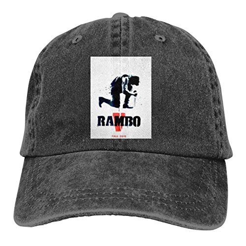 FUGVO Cool Graphic Sombreros Personalizados Black Rambo One Size Casquette Cowboy Hat