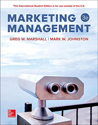 Compare Textbook Prices for ISE Marketing Management 3 Edition ISBN 9781260084993 by Marshall,Greg,Johnston,Mark