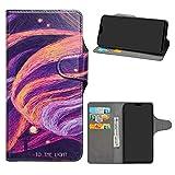 HHDY Honor 8X Funda, Diseño PU Cuero Libro Soporte Plegable y Ranuras para Tarjetas Dibujos Caso Cover para Huawei Honor 8X / Honor View 10 Lite,Brilliant Purple
