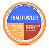 ORANGE CLOVE Tooth Powder For Kids or Adults, Botanically Clean, Teeth-Whitening, Remineralizing, Fluoride Free, SLS Free -Restores Enamel and Freshens Breath, 2 oz