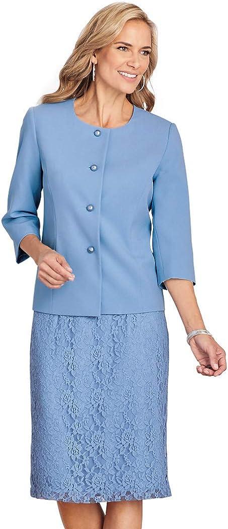 D. Vine Lace Suit French Blue 20 Misses
