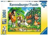 Versammlung der Tiere, Puzzle 100 Teile XXL