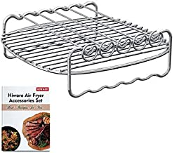 [XLVersion] Air Fryer Accessories - Air Fryer Rack XL with 5 Skewers, Recipes Included, Compatible with Philips XL/Power Air Fryer XL/GoWISE USA XL/Cooks Essentials Air fryer XL