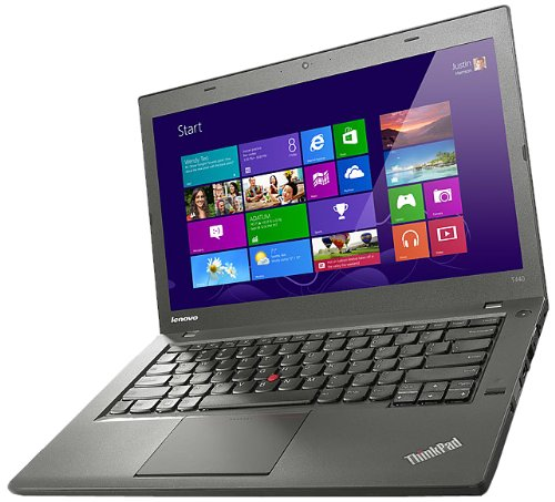 Lenovo T440 14-inch ThinkPad Laptop (Intel Core i3 1.7 GHz Processor, 4 GB DDR3 RAM, 500 GB HDD, Front Camera, Windows 7 Professional 64-Bit)