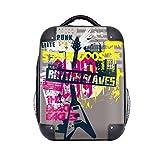 DIYthinker Rue Graffiti Culture guitare colorée Motif Hard Case épaule enfants Sac à dos de transport 15' cadeau