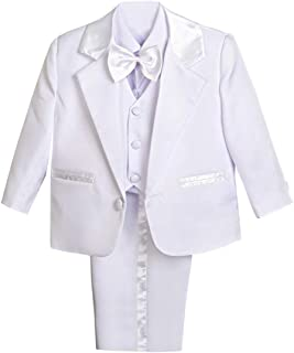 f56b6c059f26b Dressy Daisy Baby Boy' 5 Pcs Set Formal Tuxedo Suits No Tail Christening  Outfits