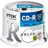 TDK データ用CD-R 700MB 48倍速対応 ホワイトワイドプリンタブル 50枚スピンドル CD-R80PWDX50PE