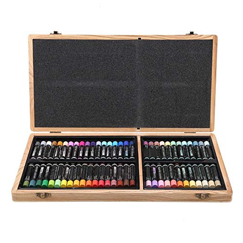 Simlug 【𝐕𝐞𝐧𝐭𝐚 𝐏𝐫𝐢𝐦𝐚𝒗𝐞𝐫𝐚】 Conjunto de 60 Pasteles al óleo, Colores Vibrantes, Aceite, Pastel, Pintura al óleo, Palo, Pintura de Bellas Artes, Juego de lápices de Colores