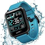 Relógio Smartwatch Inteligente XFTOPSE para Masculino e Feminino com Monitoramento de Oxigenação, ECG e PPG Smart Watch Digital com Pedômetro, 8 Modos Esportivos, IP67 À Prova Dágua (Azul)