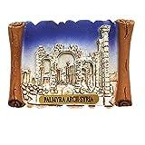 MUYU Magnet 3D Palmyra Arch Siria imán para Nevera Recuerdo Regalo, decoración del hogar y la Cocina magnético calcomanía Siria, colección de imán para Nevera