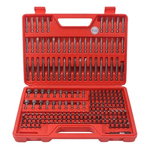 CCLIFE Juego 208 piezas para atornillar y llaves de vaso (Ph,Pz,Sl,H,T,Th) juego de llaves de vaso y puntas de destornillador