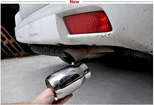 1pcs Hot Sale Car Stainless Steel Exhaust Tail Pipe Tip Tailpipe Muffler Pretector Cover Trim Emblems Silver Custom Fit For Nissan Qashqai 2007 2008 2009 2010 2011 2012 2013 2014 2015 2016 2017 2018 2019