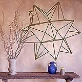 Origami estrella geométrica pared calcomanía dormitorio sala de estar decoración vinilo pared pegatina oficina moderno diseño de interiores decoración