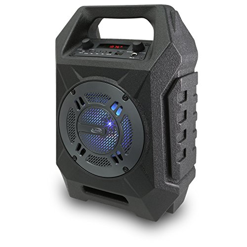 iLive Wireless Tailgate Speaker, LED Light Effects, Carry Handle, Black (ISB408B)