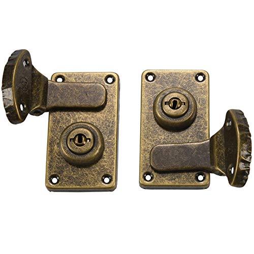 Gesh 2 cajas de instrumentos de hierro para guitarra con tornillos y 1 llave G-16