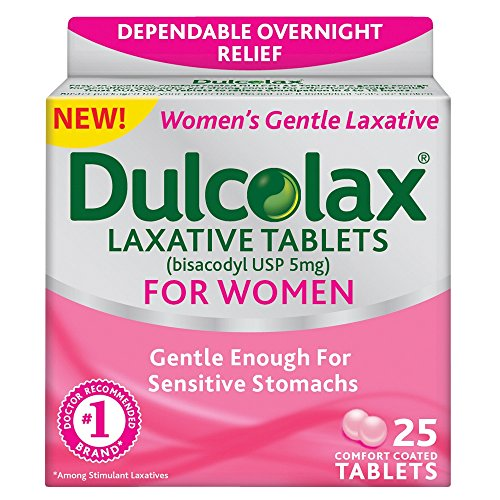 Dulcolax Laxative Comfort Coated Tablets for Women 25 Tablets (Pack of...