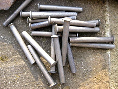 5 rivets pour réparation de manche de pelle, bêche, fourche, râteau, houe, tondeuse à gazon - 50 x 6 mm