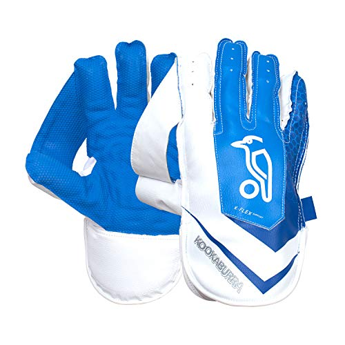 Kookaburra Unisex s SC 4.1 Wicket Keeping Gloves, White Blue, Adult