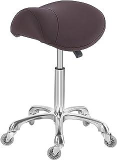 كرسي سناد للتدليك عيادة وصالون السبا، مقعد دوار مع عجلات ارتفاع قابل للتعديل (القهوة)