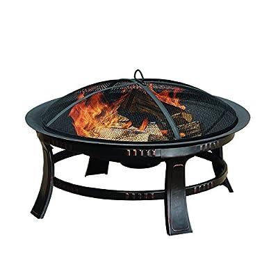 Pleasant Hearth OFW106R Brant Round, 30-Inch fire Pit, Regular, Rubbed Bronze