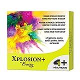 4+ NUTRITION - Xplosion+ Energy, Suplemento deportivo, ayuda al cuerpo en períodos de especial fatiga física y mental, sabor a naranja sanguina, 14 bolsas
