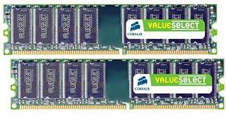 Corsair ValueSelect - Memoria RAM (DDR1, 400 MHz, 2 GB, CL3, 2 x 1 GB) (B0009W7OJO) | Amazon price tracker / tracking, Amazon price history charts, Amazon price watches, Amazon price drop alerts