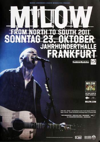 Milow - North to South, Frankfurt 2011 » Konzertplakat/Premium Poster | Live Konzert Veranstaltung | DIN A1 «