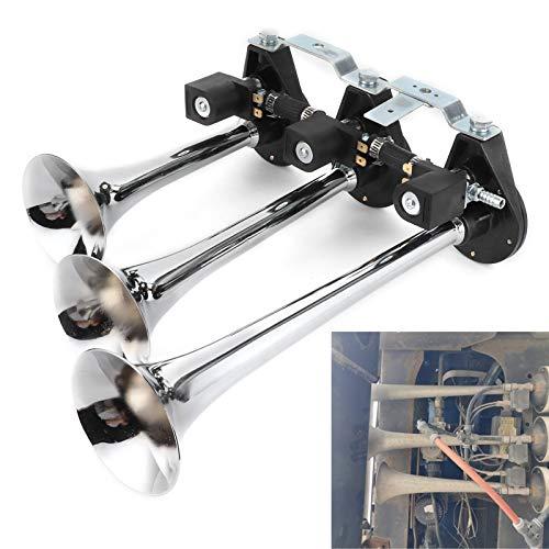 Bocina de aire de 12 V, trompeta de 3 tubos, trompeta universal para coche, bocina de aire de 8 sonidos, bocina de aire, accesorios de coche para camión