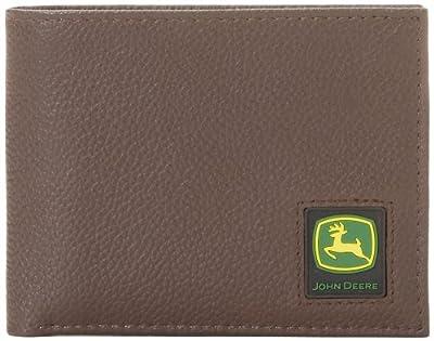 John Deere Men's Passcase Wallet, Brown