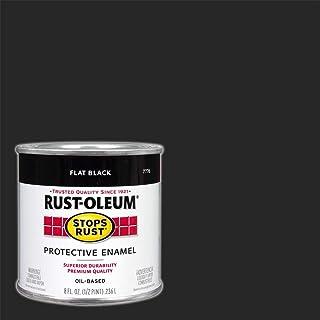 Rust-Oleum 7776730 Protective Enamel Paint, 8-Ounce, Flat Bl