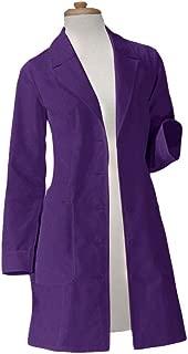 Panda Uniform Custom Colored Lab Coat for Women 36 Inch length-Purple-M