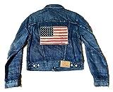 Ralph Lauren Women's Polo USA American Flag Denim Trucker Jacket (S)
