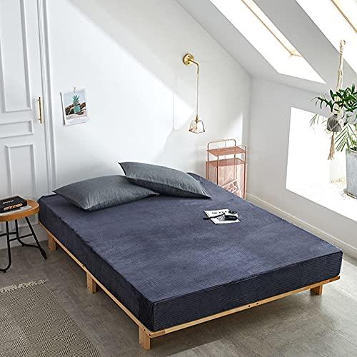 HAIBA Sábanas bajeras lisas térmicas suaves y cálidas de lujo con cuatro esquinas con cinturón elástico para colchón, gris, 48 x 74 cm