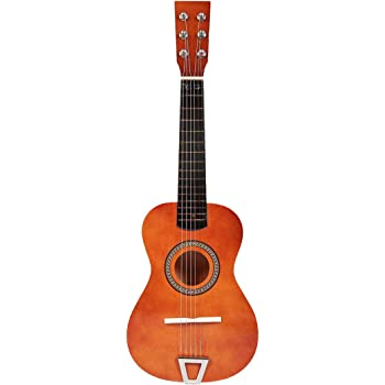 Foxom Guitarra Niños 23 Pulgada 6 Cuerdas Madera Guitarra Juguetes - Instrumento Musical para Niño y Niña de 3 años + (Café): Amazon.es: Juguetes y juegos